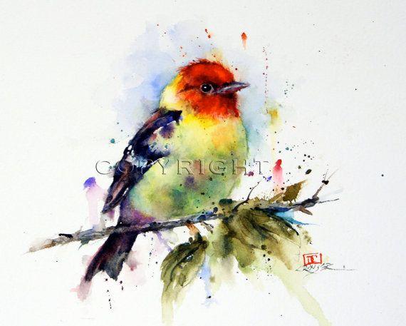 TANGARA uccello colorato mattonelle di ceramica di DeanCrouserArt