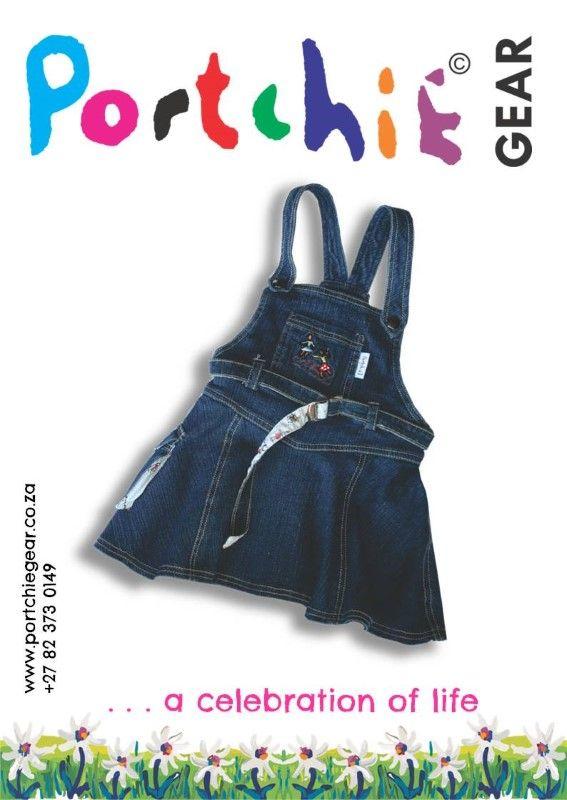 Girls #dungaree by #portchiegear - www.portchiegear.co.za