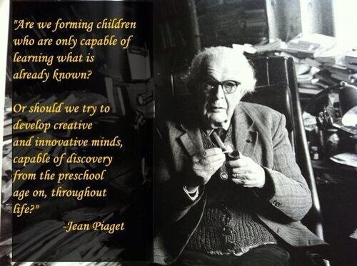 Jean Piaget Quote Are We Forming Children Who Are Only: 19 Best The GIANTS That Led Us Images On Pinterest