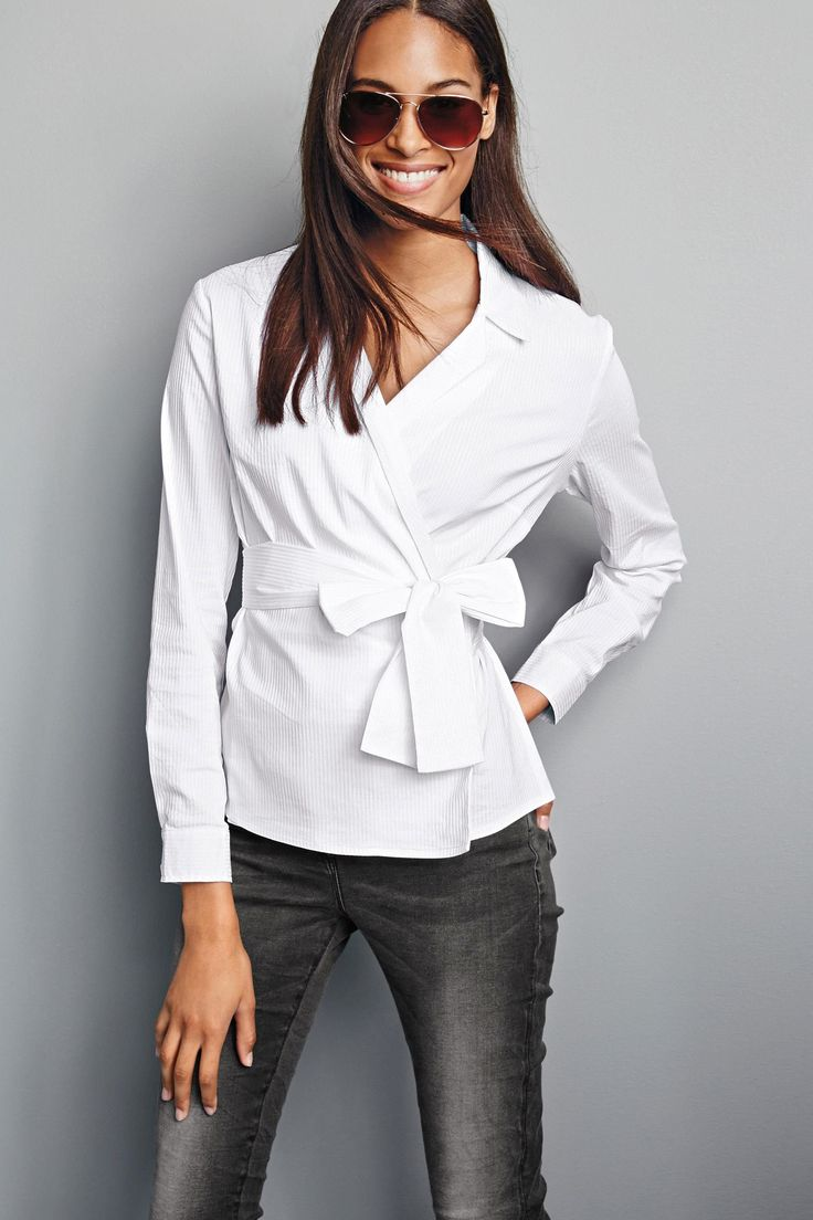 Buy White Wrap Shirt From The Next Uk Online Shop Casual
