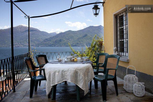 Romantic front lake Como attic in Menaggio
