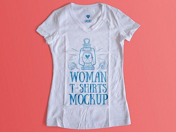 Женская футболка Mockup шаблон