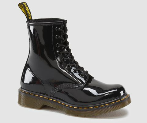1460 Womens  Dr Martens Black Patent Boots