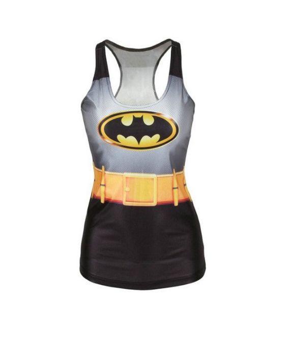 Caped Crusader Suit Tank Top #Shirts #superheroshirts #leggings #fitness #girl