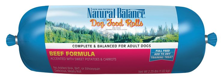Natural Balance Dog Food Rolls are formulated to be meaty tasting and full of delicious flavors that no dog can resist. These delicious rolls are packed with high quality nutrition and the finest ingredients. Featuring premium meats, added kelp meal and various fruits and veggies, Natural Balance Rolls provide a natural source of vitamins and minerals to promote healthy skin and coat condition. Simply chop, grate or crumble and it's ready to go!