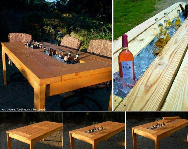 Mesa con hielera la casa ideal pinterest - Sofas con palets para jardin ...