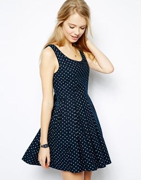 Image 1 of Jack Wills Anchor Pattern Sleeveless Dress