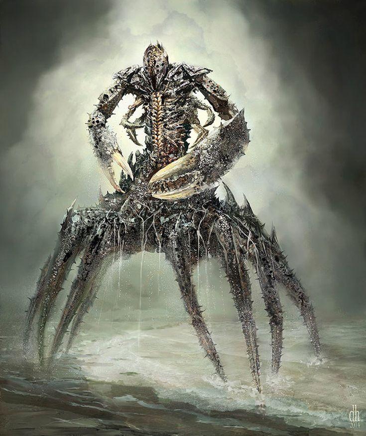 Cancer zodiac-monsters-fantasy-digital-art-damon-hellandbrand-4