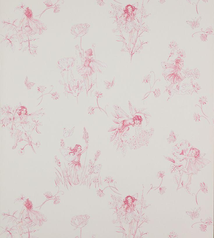 Meadow Flower Fairies Wallpaper by Jane Churchill | Jane Clayton