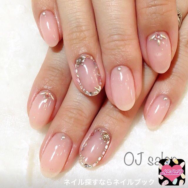 かわいいネイルを見つけたよ♪   OJ nail&eyelash  @ojsalon #シアーピンク #ヌーディー