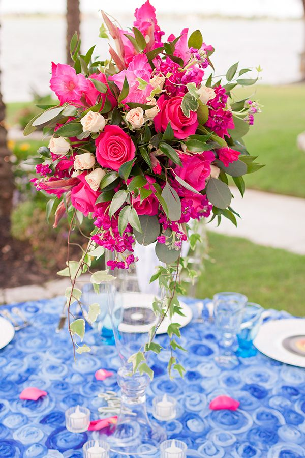 Mamma Mia Theme Wedding Ideas | Centerpieces & Table Decor