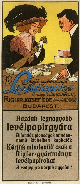 Vintage Hungarian Advertisement - Joseph Riegler Paper Factory - stationery1908 by takacsi75, via Flickr