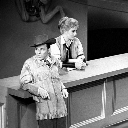 Frank Sinatra Archive - Frank, Joyce Beatty and others on the Frank Sinatra Show, January 17 1958