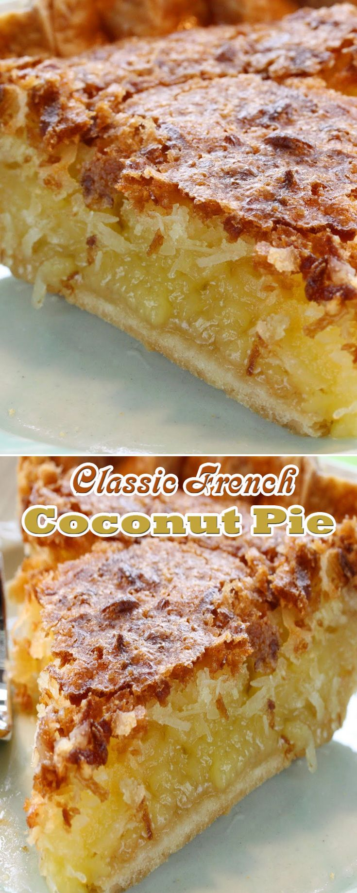 Classic French Coconut Pie