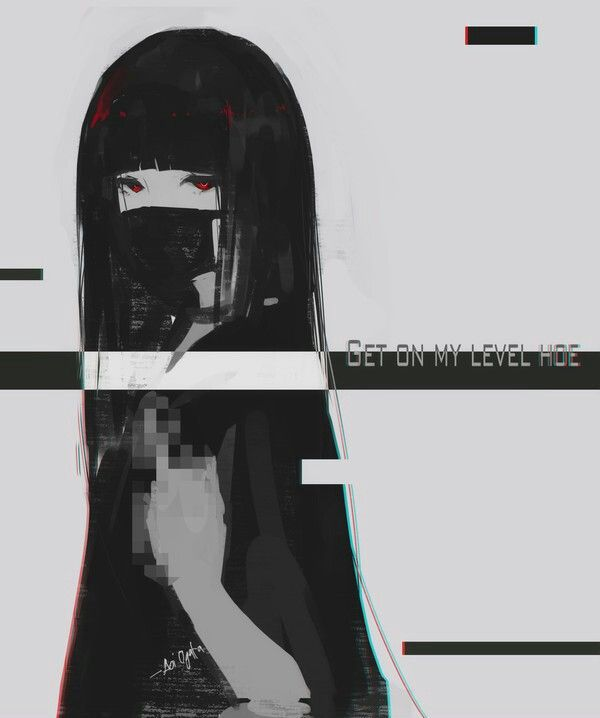 Anime art anime original аниме арт аниме оригинал Aoi Ogata чёрный цвет bleck color мило kawaii gothic тян девушки девочки girl tyan AoiOgata artist