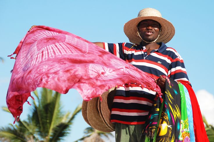 Sari vendor by the shores of Kigamboni in Dar Es Salaam