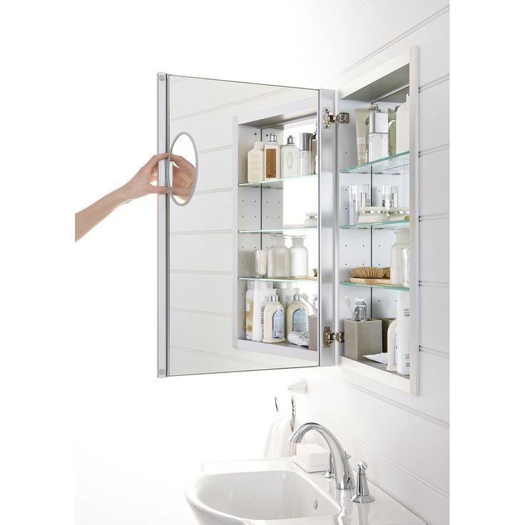 Kohler Verdera 20 W X 30 H Aluminum Medicine Cabinet With Adjustable Magnifying Mirror