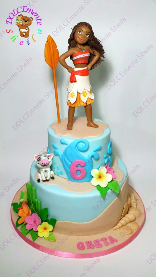 HOW CUTE IS THIS MOANA CAKE?