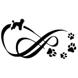 Infinity Poodle Vinyl Decal Car Sticker  SALE PRICE$10.95