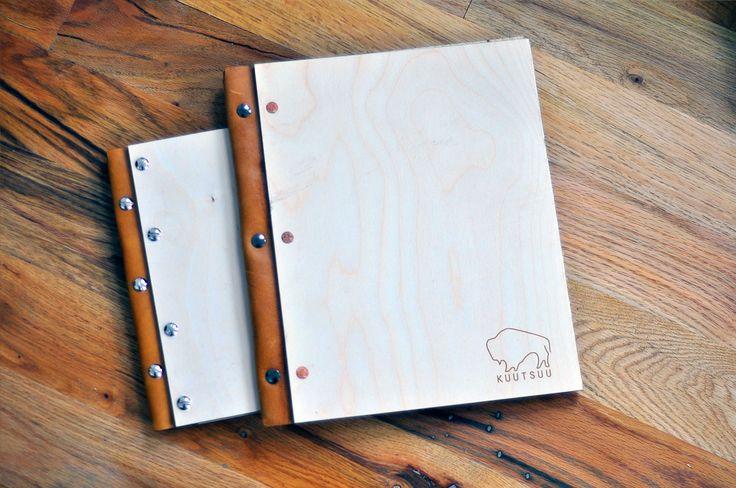 Fully Customizable Wood and Leather portfolio Using Screw Posts. 1 Portfolio = $45 2 Portfolios = $85 5 Portfolios = $200 10 Portfolios = $350 15 Portfolios = $450