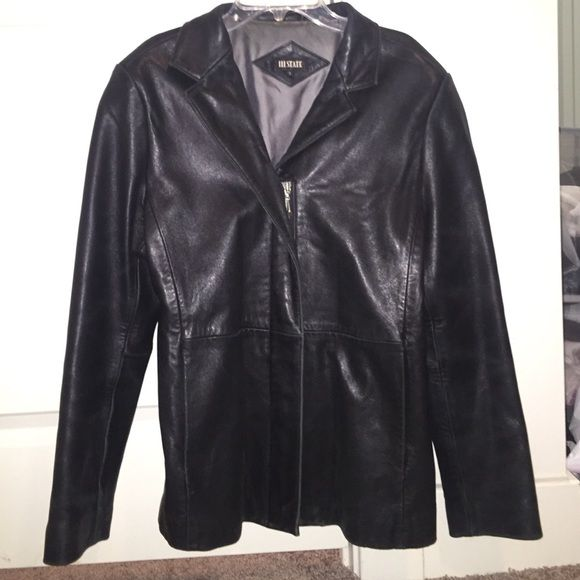 Women's leather coat Genuine leather coat. Very soft. Some wear along edge of sleeves. Jackets & Coats