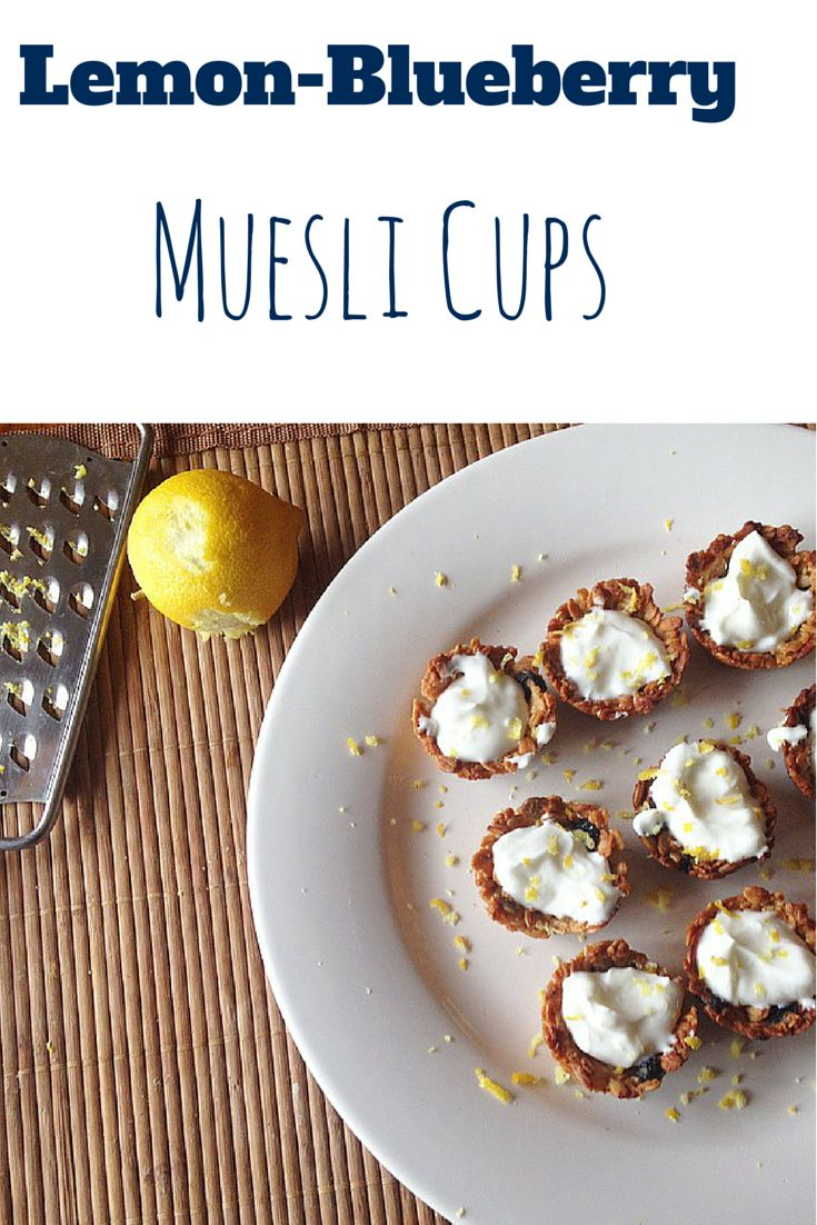 Make these #healthy Lemon-Blueberry Muesli Cups for a afternoon snack!   GET A 1 DOLLAR OFF COUPON BY VIEWING THIS RECIPE!  #coupon #ad #vegan