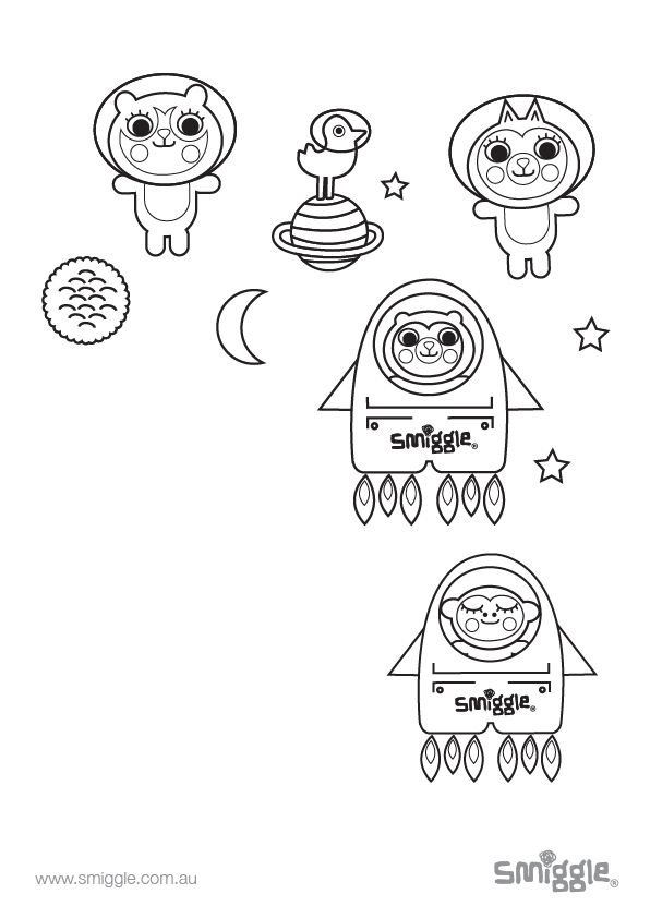 colour in our cute friends from another galaxy!