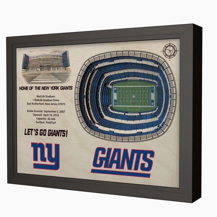 New York Giants MetLife Stadium 3D View Wall Art