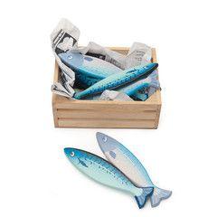 Le Toy Van legemad i træ, friske fisk