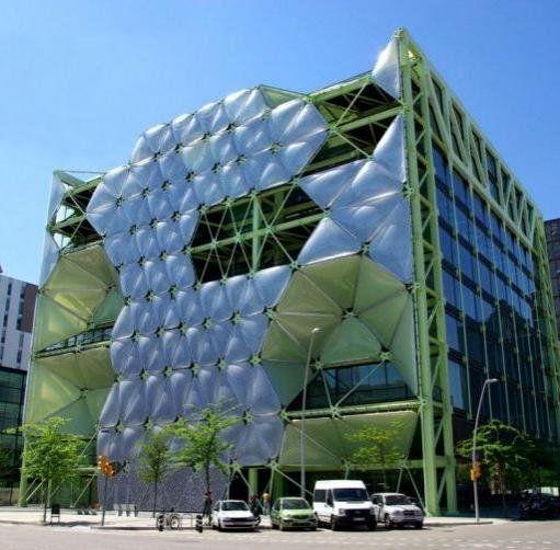 Travel In Spain Barcelona Architecture Tour: Media Tic, Barcelona Spain