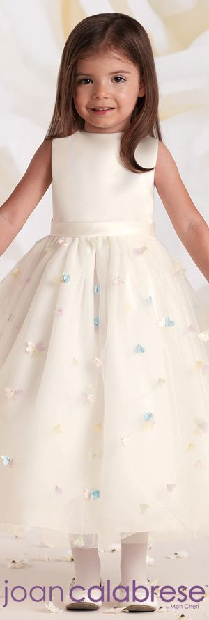 Joan Calabrese for Mon Cheri - Style No. 115328 #flowergirldresses calabresegirl.com