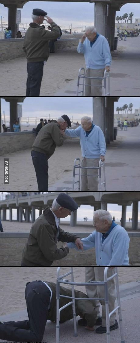 Holocaust survivor salutes US soldier who liberated him from concentration camp