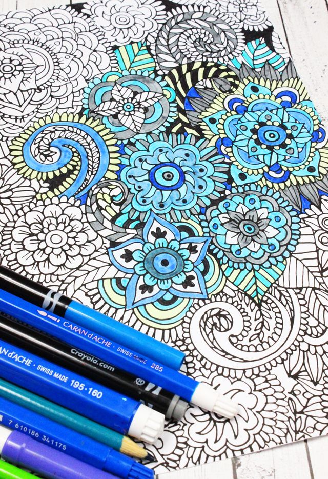 454 best Floral Coloring Pages for Adults images on Pinterest - copy make your own coloring pages online