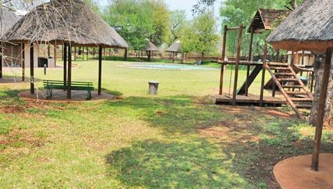 Playground in the garden.