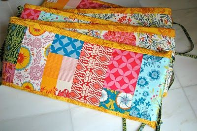 crafterhours: Patchwork Crib Bumper: A Tutorial. I can think of a few people who would love this, me being one : )