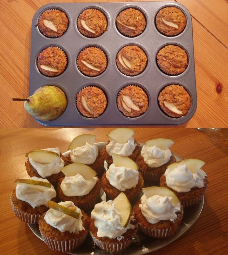 Cupcakes alla apple - pear pie