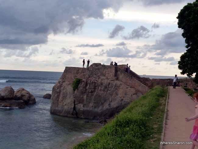 Flag Rock on Galle Fort walls