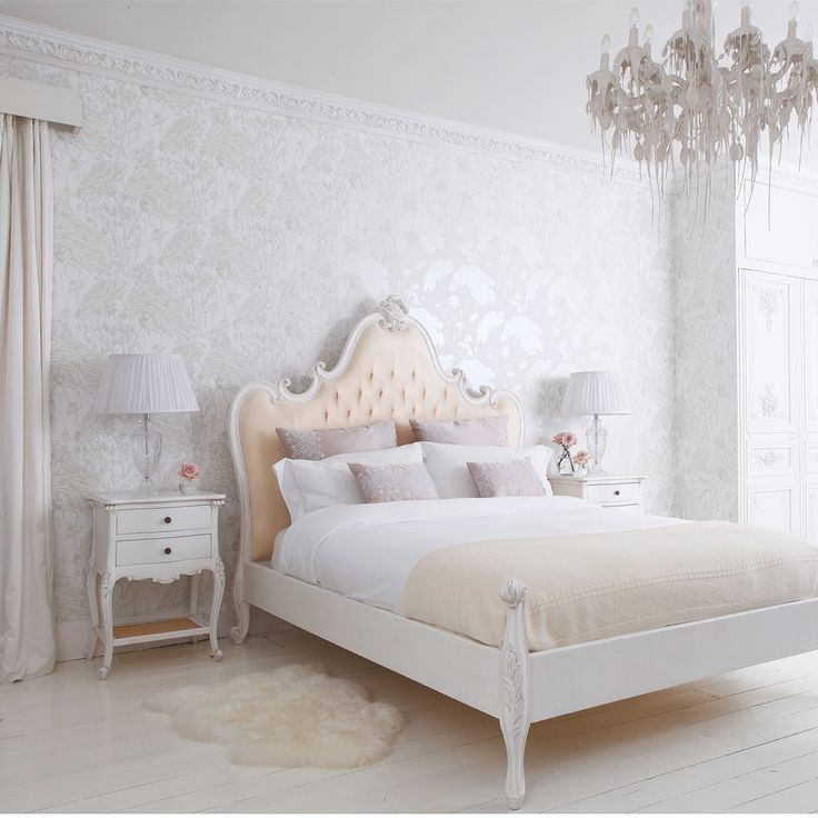 provencal grande upholstered luxury bed by the french bedroom company