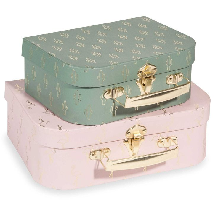 2 valigette verdi e rosa FLAMINGO CATUS
