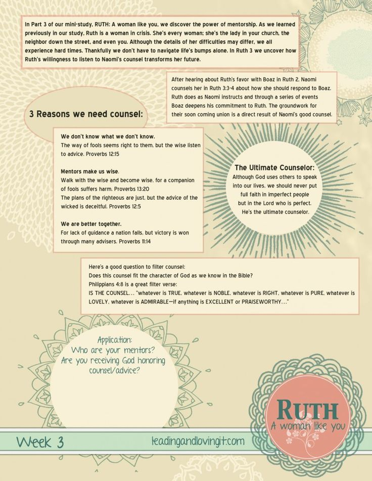 Book of ruth bible study lessons