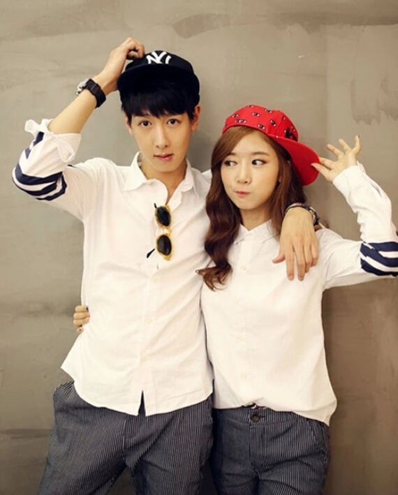 Korean College Long Sleeve White Cute Printed Lapel Button Plus Size Couple Shirt For Sale