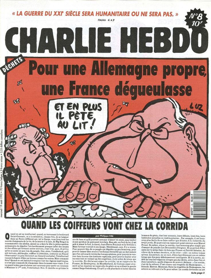 Charlie Hebdo - # 8 - 19 Août 1992 - Couverture : Luz