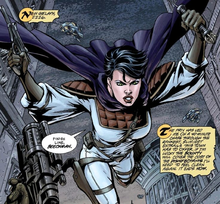 #MercyStClair swings into action in #Trekker #TheTrainToAvalonBay from #RonRandall #Comics #SciFi #StrongFemaleCharacter #TBT 🚀