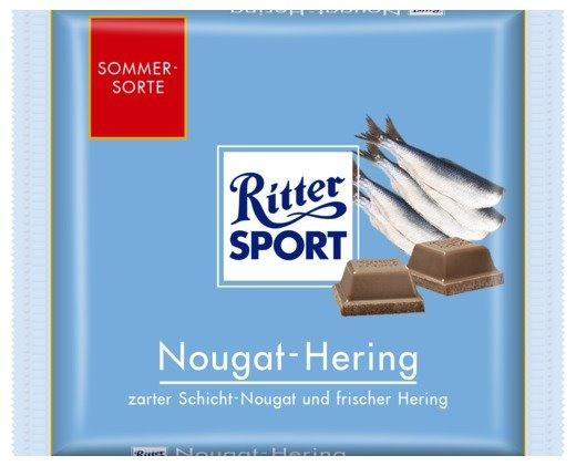 RITTER SPORT Fake Schokolade Nougat-Hering