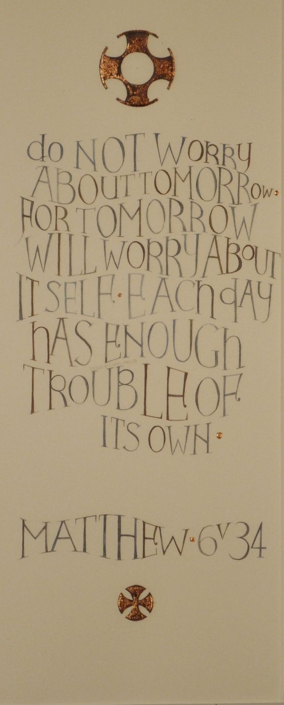 Tess Cooling, calligrapher: words of inspiration beautifully illustrated - Work with a Religious Theme