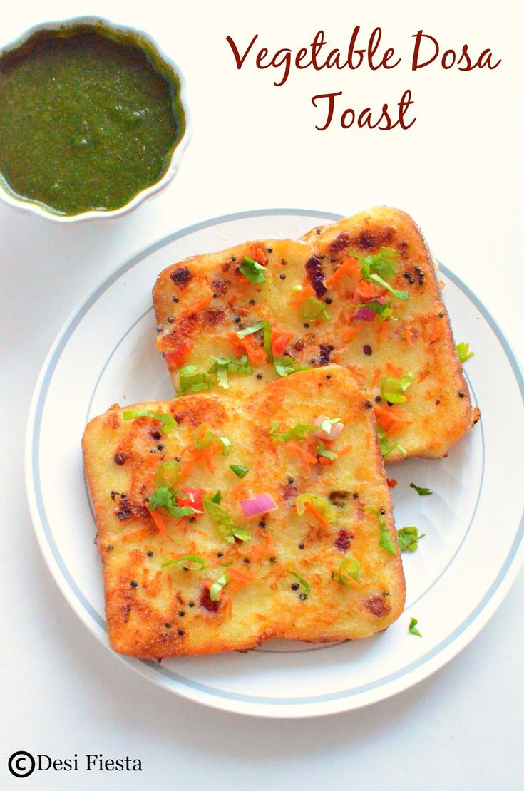 Vegetable Dosa Toast Recipe Dosa French Toast ~ #Breakfast Recipe Pinned for you by https://organicaromas.com