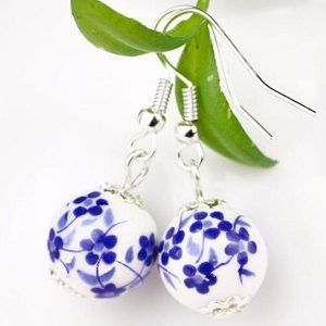 Kolczyki Blue Ceramic Marble 01