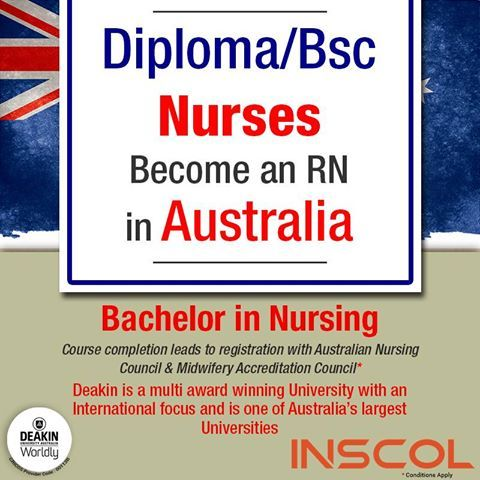 #INSCOL offers Higher Study options for #Nurses in #Australia!
