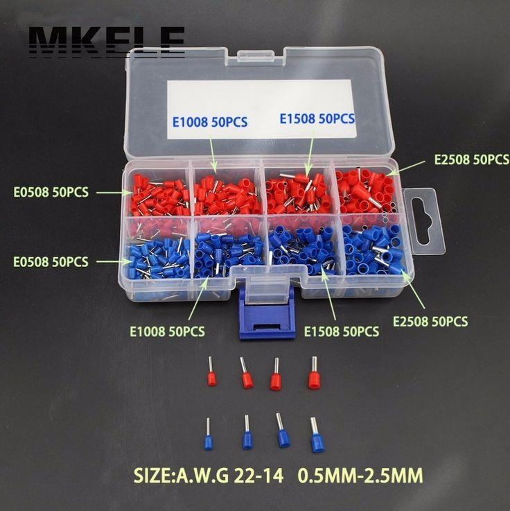 Neue Ankünfte Geben Verschiffen 400 stücke Kupfer Crimp Stecker Insulated Pin Endklemme Block Aderendhülsen Kit Set Draht China
