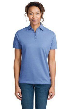 Ladies Port Authority Ladies Pima Select Sport Shirt with PimaCool Technology, Blueberry, XXL Port Authority. $21.66